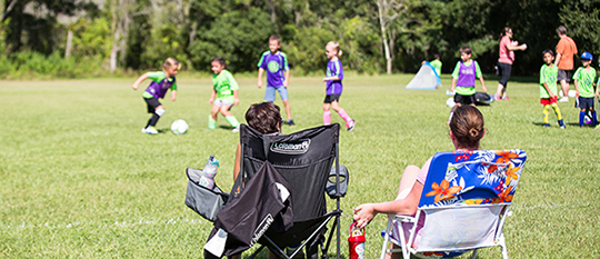 Image of Parents Watching Kids at Tampa Soccer Tournament