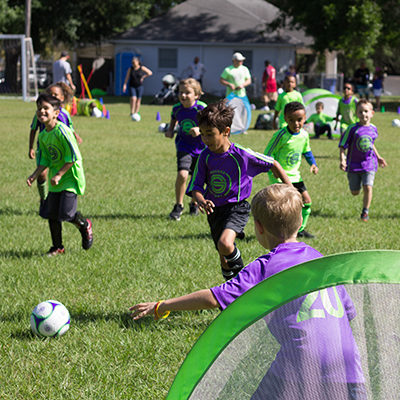Image of Live Game at a Tampa Youth Soccer Tournament